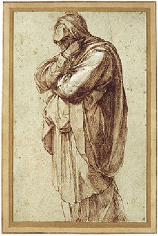 a mourning woman by michelangelo