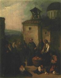 monje distribuyendo almas by johann moritz rugendas