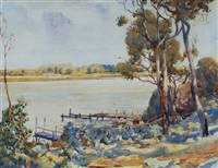 river scene by george courtney benson