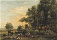 on the edge of a forest by jan van ravenswaay
