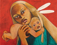 mother and child by robyn kahukiwa