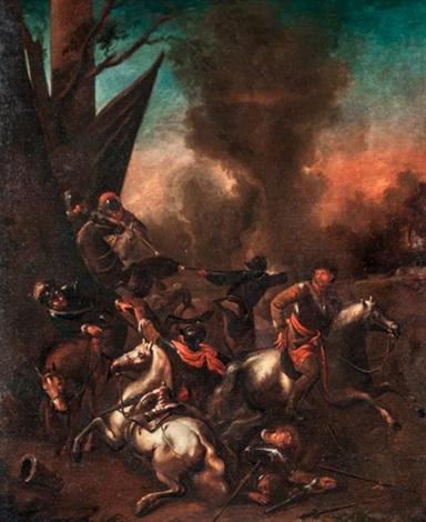 lovasági csatajelenet by pieter wouwerman