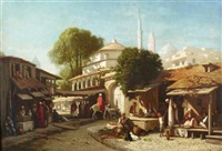 a turkish market-place by louis tesson