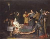 la mort de richard coeur-de-lion by adolphe charles edouard steinheil