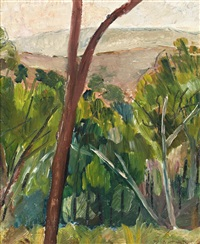 bush and mountains by grace cossington smith