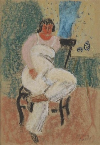 lady seated in a chair by milton avery
