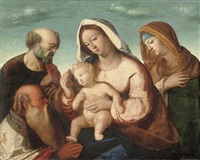 the holy family with saint anne and saint joachim by giovanni bellini
