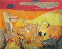 bretonnes dans un paysage coloré by xavier krebs