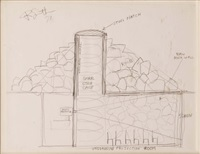 underground projection room-utha museum plan by robert smithson