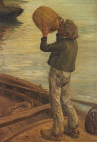 l'homme en barque by alfred victor fournier