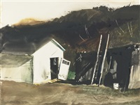 barn lamp by andrew wyeth