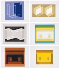 formulation articulation i and ii (portfolio of 127) by josef albers