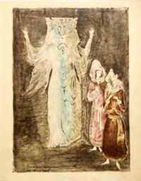 leye returns transformed into the dybbuk (from the dybbuk series) by leonora carrington