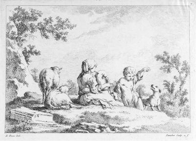 livre de différents sujets de figures et animaux set of 8 by balthasar anton dunker