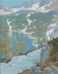 high sierra lake by elmer wachtel
