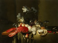 still life with lobster by laurens craen