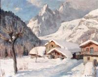 le village d'entrèves sous la neige, courmayeur by angelo abrate