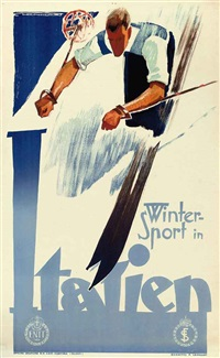 winter sport in italien by franz lenhart
