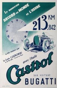 l'huile castrol pour votre bugatti by jean pillod