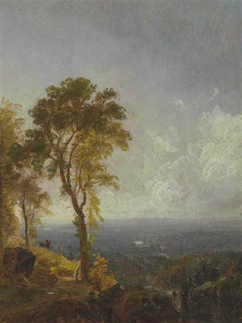 landscape view near catskill mountain house by jasper francis cropsey