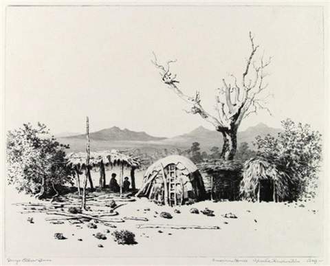 indian houses apache reservation arizona by george elbert burr