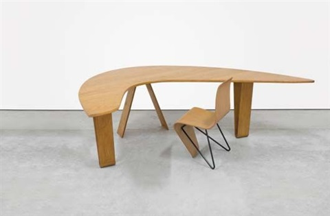 boomerang desk and bellevue chair by andré lucien albert bloc
