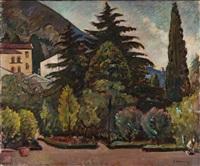 il giardino della villa by piero marussig