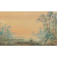 paisaje del lago de maracaibo by anton goering