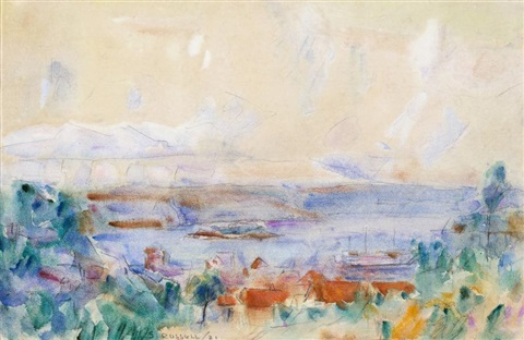 rose bay from paddys meadow by john peter russell