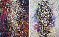 i know not. i know., who's afraid of red, yellow, blue and death (2 works) by takashi murakami