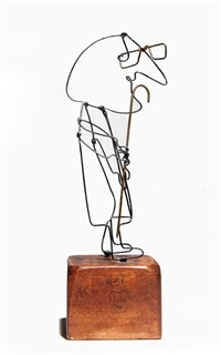 man with cane by william accorsi