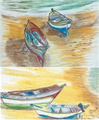 boats at gran canaria (+ another; pair) by barbara warren