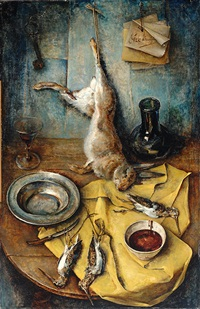still life with dead game by dirk kruizinga