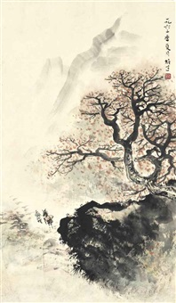 traveling in an autumn landscape by li xiongcai