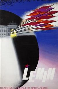 lenin. muzeum lenina w warszawie (poster design) by tadeusz gronowski