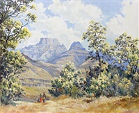 drakensburg mountains by victor simmonds