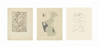a group of five etchings by henri laurens