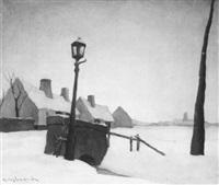 winterlandschap by karel van lerberghe