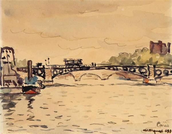 pont des saint pères by albert marquet
