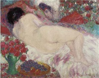reclining nude by jean timmermans