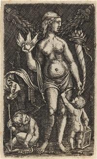 stehende venus mit zwei putten (after peregrino da cesena) by albrecht altdorfer
