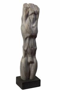 disrobing figure by caroline van der merwe