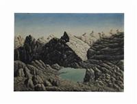 paysage montagne by andré bauchant