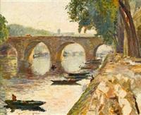 le quai du louvre by arthur fillon