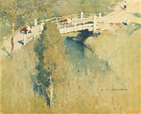 bridge with cattle crossing by jesse jewhurst hilder