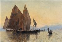 segelboote in der lagune von venedig by jules gachet