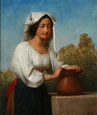 an italian woman by edvard lehmann