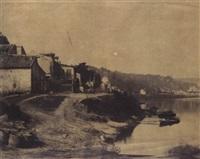 bords de la seine, cours et logement du charpentier by henri-victor regnault