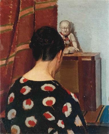 Donna Di Spalle In Un Interno By Oscar Ghiglia On Artnet