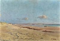 personnages sur la plage by eudes alfred françois retz